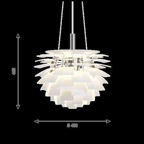 Louis Poulsen PH Artichoke hanglamp-Wit-∅ 48 cm