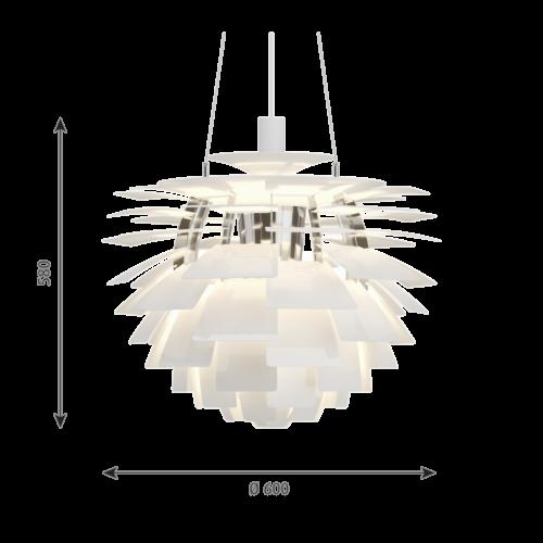Louis Poulsen PH Artichoke hanglamp-Wit-∅ 60 cm