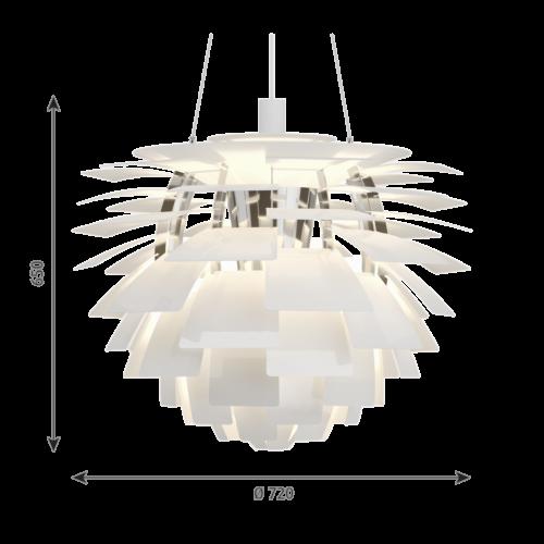 Louis Poulsen PH Artichoke hanglamp-Wit-∅ 72 cm