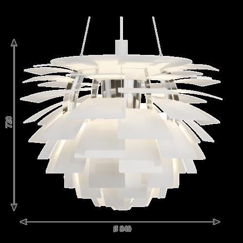 Louis Poulsen PH Artichoke hanglamp-Wit-∅ 84 cm