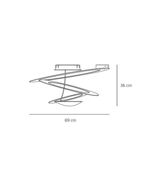 Artemide Pirce Mini Soffitto LED plafondlamp-Goud