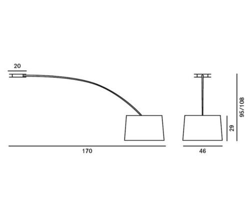 Foscarini Twiggy plafondlamp-Zwart