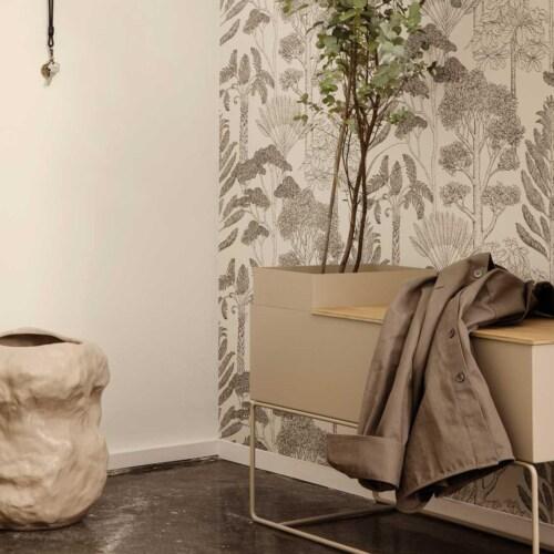 Ferm Living Plant Box Tray Large Wooden-Gerookt eiken