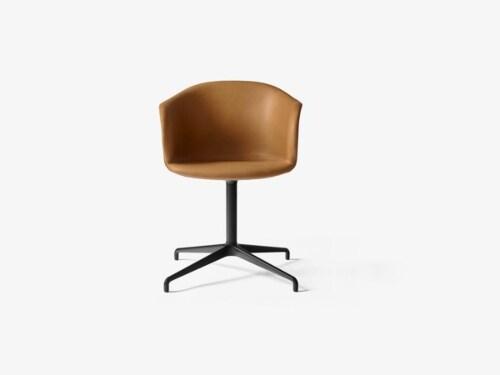 &tradition Elefy JH33 stoel-Cognac-Zwart