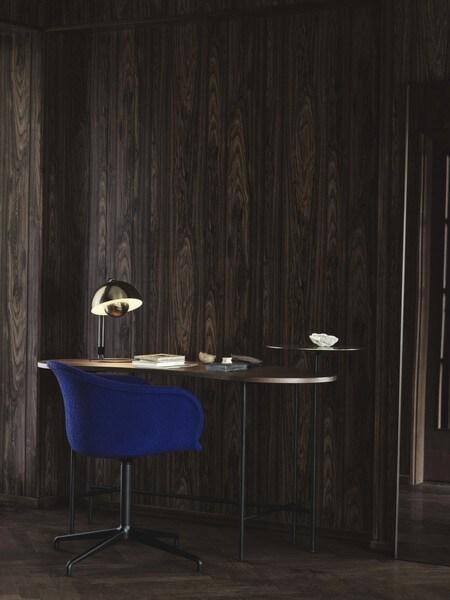 &tradition Elefy JH33 stoel-Licht grijs-Aluminium