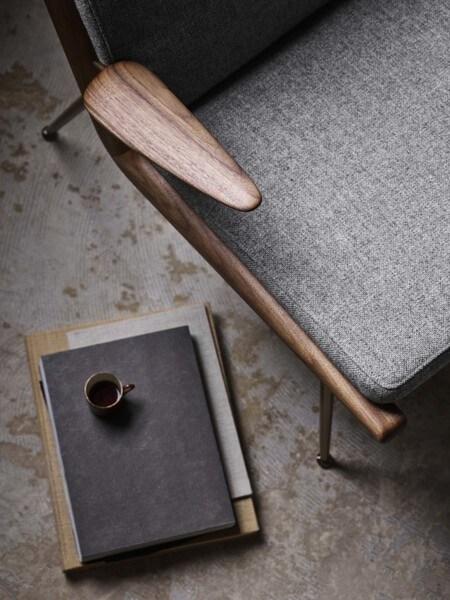 &tradition Boomerang HM2 fauteuil-Grijs-Witte olie eiken