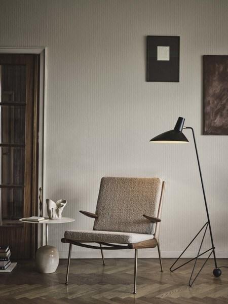 &tradition Boomerang HM2 fauteuil-Licht roze-Witte olie eiken