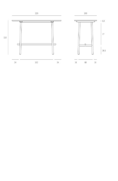 Ethnicraft Profile hoog tafel