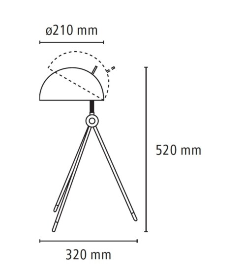 Lightyears Radon tafellamp-Zwart