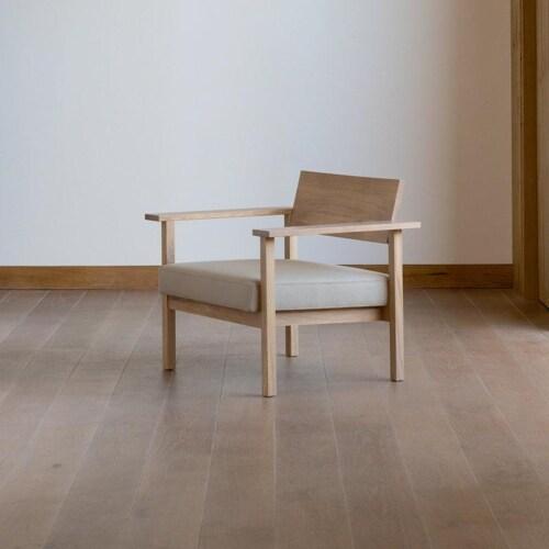 Studio HENK Base Lounge chair-Bordeaux 37-Hardwax oil natural