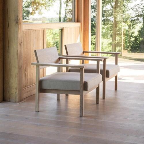 Studio HENK Base Lounge chair-Lightgrey 60-Hardwax oil light