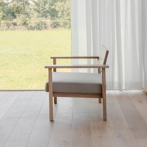 Studio HENK Base Lounge chair-Rafblauw 42-Hardwax oil natural