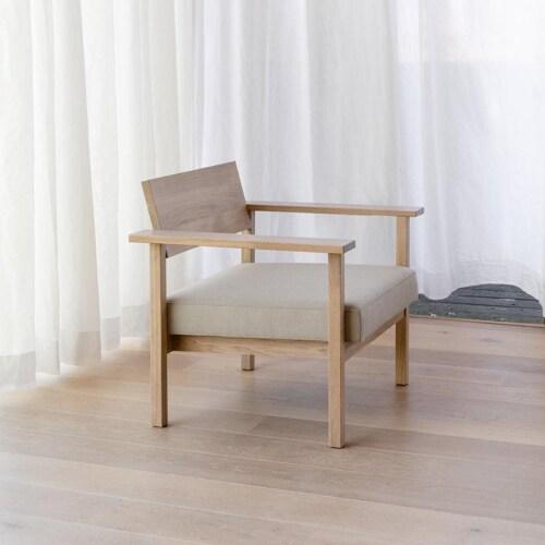 Studio HENK Base Lounge chair-Brique 27-Hardwax oil natural