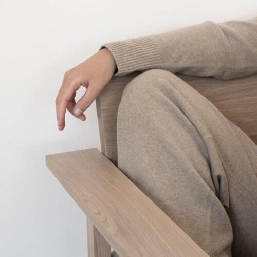 Studio HENK Base Lounge chair-Kiezel 7-Hardwax oil light
