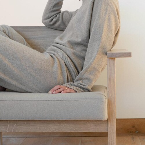 Studio HENK Base Lounge chair-Multilightgrey 99960 -Hardwax oil natural