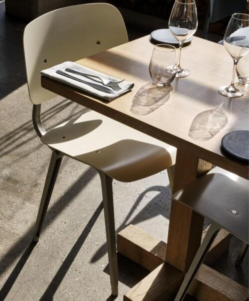 HAY Revolt stoel gepoedercoat onderstel-Beige - Rice
