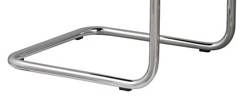 Zuiver Ridge Rib Brushed metal stoel-Rood