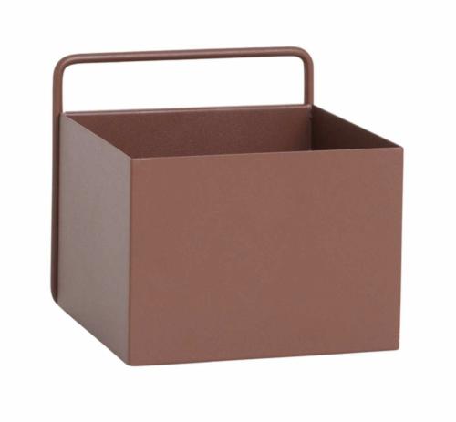 Ferm Living Wall Box vierkant-Roodbruin