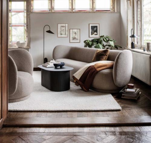 Ferm Living Rico Bouclé fauteuil-Zand
