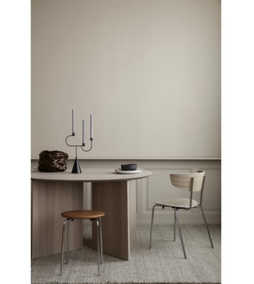 Ferm Living Herman Chroom stoel-Naturel