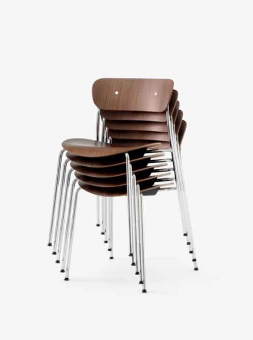 &tradition Pavilion AV1 stoel-Chrome Walnoot