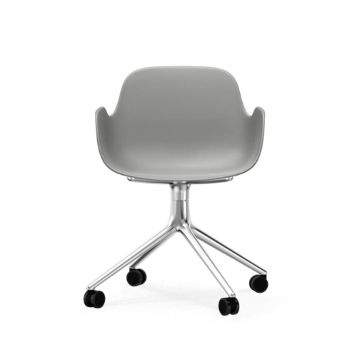 Normann Copenhagen Form Swivel bureaustoel aluminium onderstel-Grey