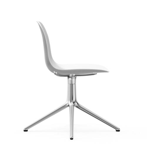 Normann Copenhagen Form Swivel stoel aluminium onderstel-White