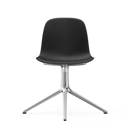 Normann Copenhagen Form Swivel stoel aluminium onderstel-Black