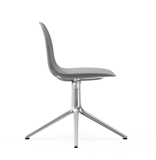 Normann Copenhagen Form Swivel stoel aluminium onderstel-Grey