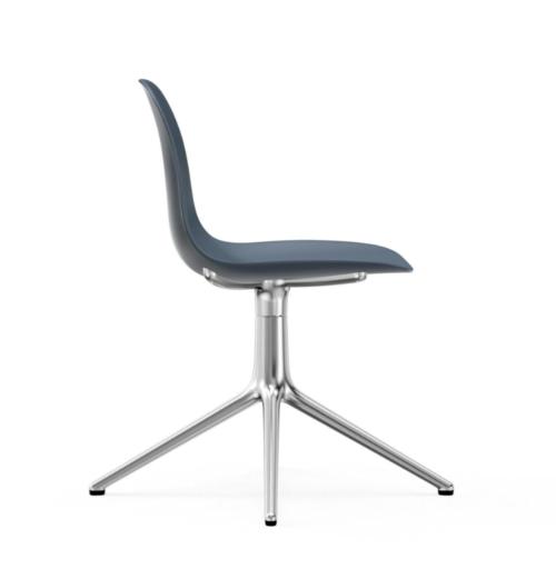 Normann Copenhagen Form Swivel stoel aluminium onderstel-Blue
