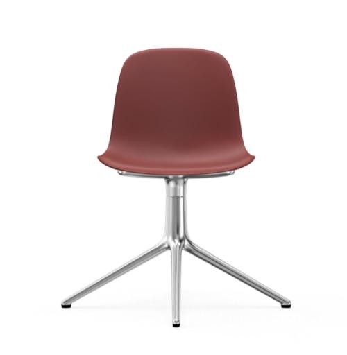 Normann Copenhagen Form Swivel stoel aluminium onderstel-Red