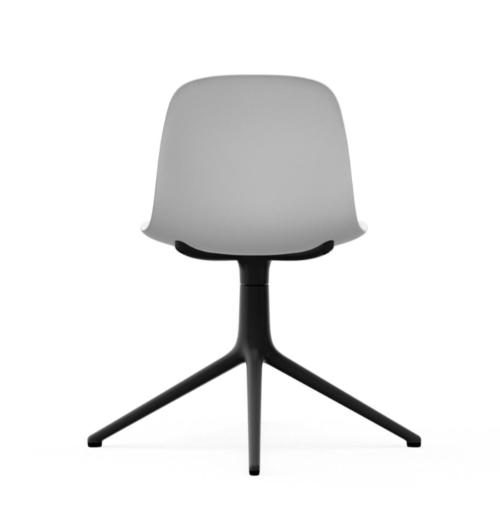 Normann Copenhagen Form Swivel stoel zwart aluminium onderstel-White