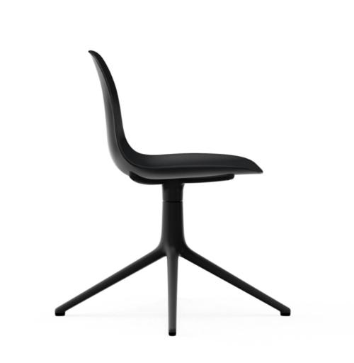 Normann Copenhagen Form Swivel stoel zwart aluminium onderstel-Black