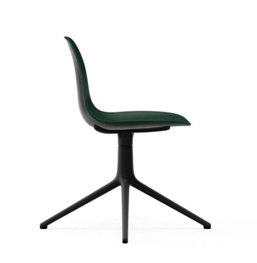Normann Copenhagen Form Swivel stoel zwart aluminium onderstel-Green