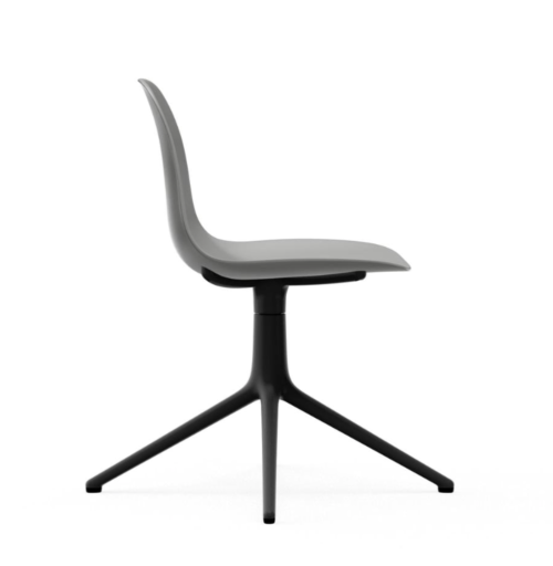Normann Copenhagen Form Swivel stoel zwart aluminium onderstel-Grey