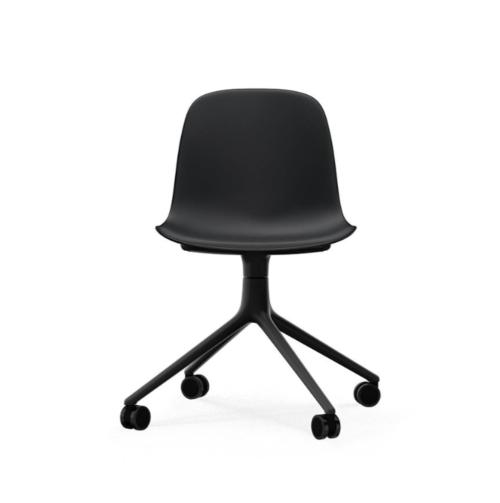 Normann Copenhagen Form Swivel zonder arm bureaustoel zwart onderstel-Black