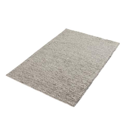 WOUD Tact vloerkleed-Dark grey-90x140 cm