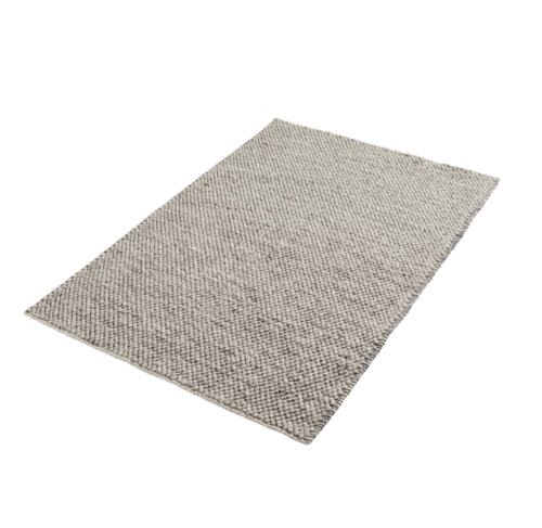 WOUD Tact vloerkleed-Dark grey-200x300 cm