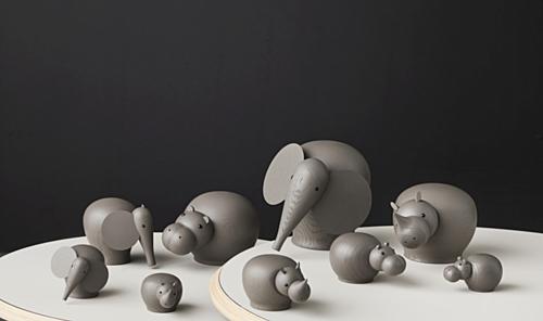 WOUD Nunu taupe olifant-Mini