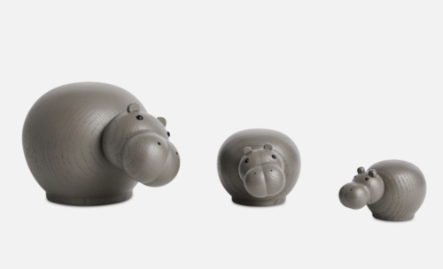 WOUD Hibo taupe nijlpaard-Small