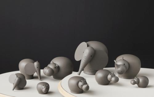 WOUD Hibo taupe nijlpaard-Medium