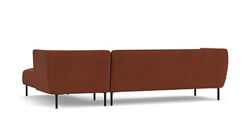 FEST Aku hoekbank met longchair-Polvere - Silent - Copper - 126-Longchair rechts