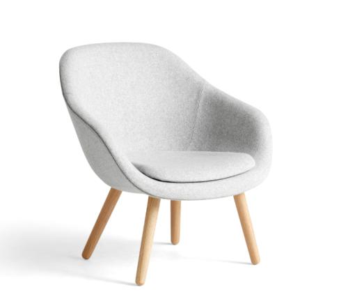 HAY AAL82 fauteuil-Divina Melange 120-Water-based gelakt eikenhout