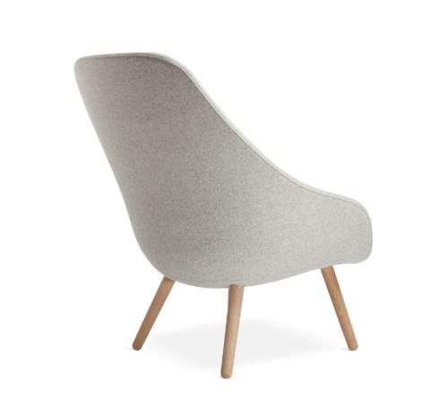 HAY AAL92 fauteuil-Divina Melange 120-Water-based gelakt eikenhout