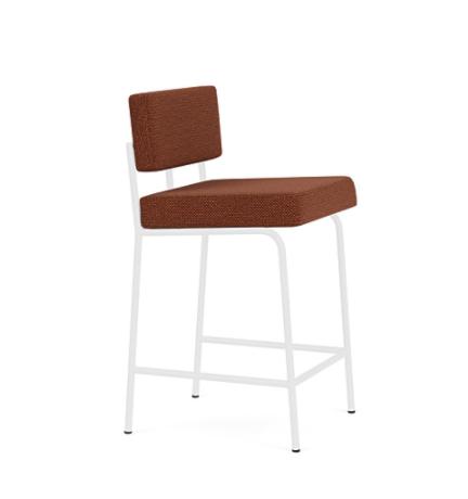 FEST Monday Counter stoel met wit onderstel-Silent - Copper - 126