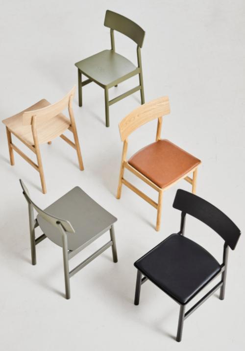 WOUD Pause Dining Chair stoel-Cognac