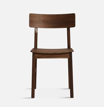 WOUD Pause Dining Chair stoel-Gerookt eiken