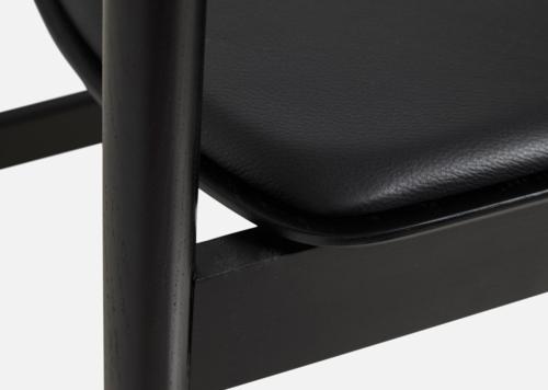 WOUD Pause Dining Chair stoel-Black - Black
