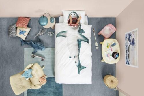 Snurk Shark!! dekbedovertrek-240x200/220 cm