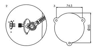 Tonone Bolt Side Fit Mini Install wandlamp-Midnight grey